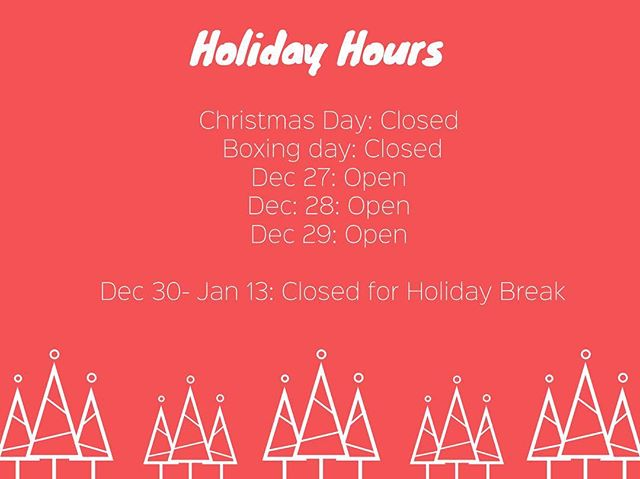 Just a friendly (& festive) reminder about our holiday hours! Wishing everyone a happy & healthy holiday season! 🎁 #holidayhours #smallbusiness #adelaide #supportlocal #isupportsa #southaustralia