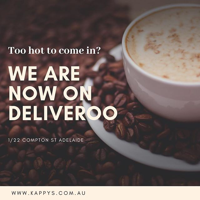 Check us out on @deliveroo_au #supportlocal #toohotoutside #freshlyroasted #organictea #organiccoffee #convenient
