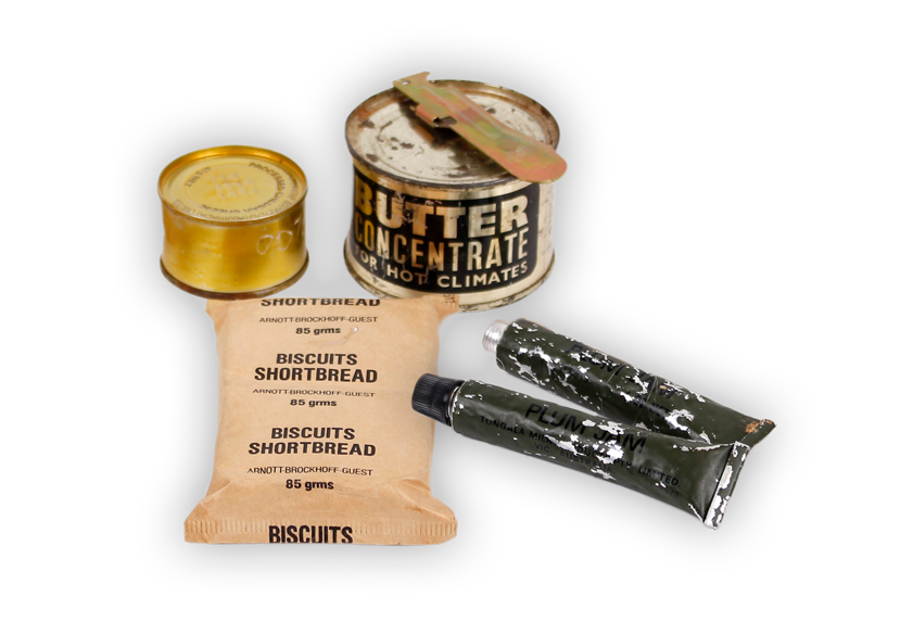 Image of a soldier's rations.