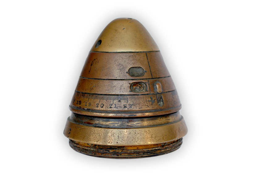 Image of a shell fuse cap produced in Canada for Commonwealth forces.