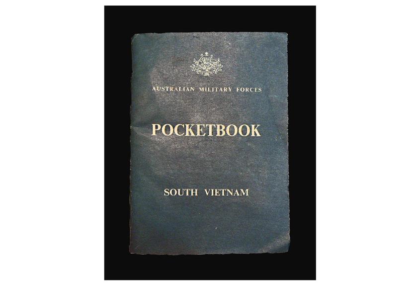 Image of standard issue pocketbook from Vietnam War.