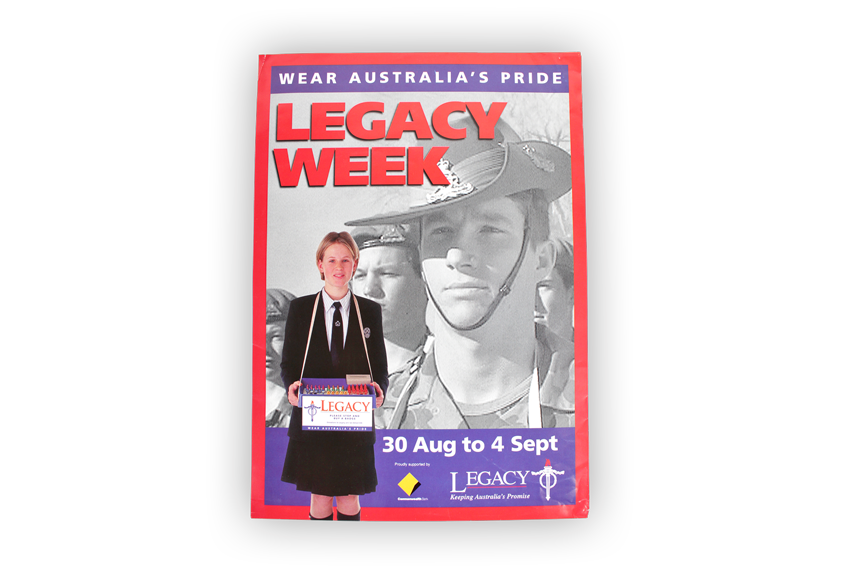 Image of a poster from Legacy Week, one of Legacy's annual fundraising campaigns.