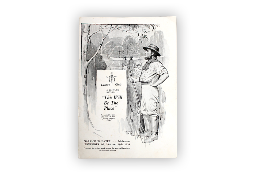 Image of theatre program from nineteen thirty four.