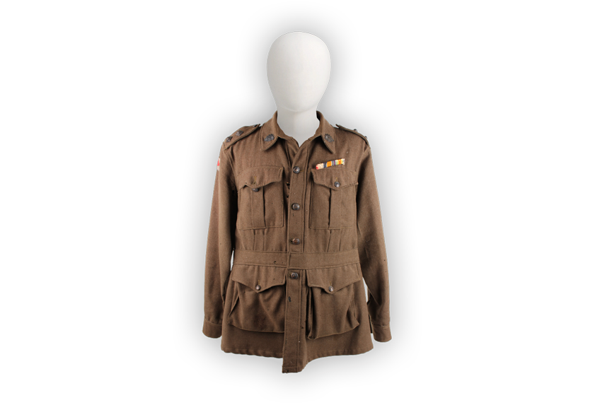 Image of the standard issue uniform for Australian soldiers during the First World War.