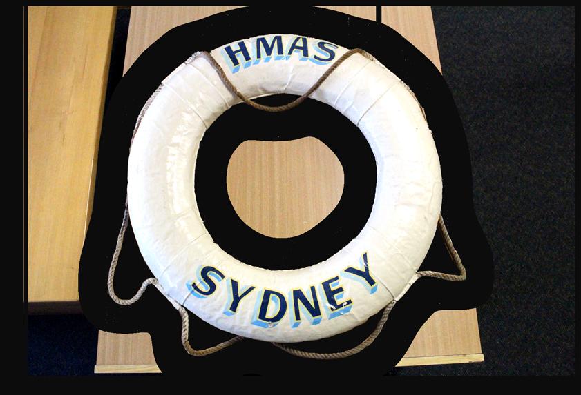 Image of a lifebuoy from the HMAS Sydney.