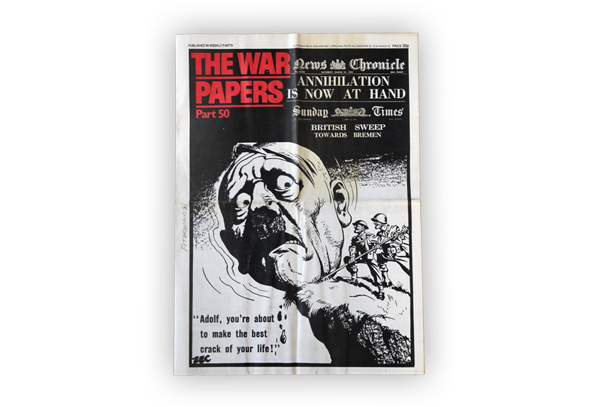 Image of The War Papers newspaper from 1945.