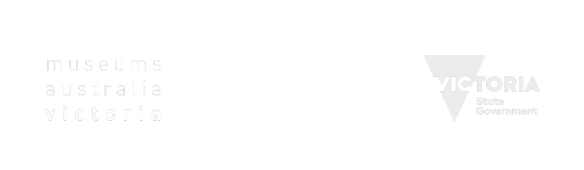 Image showing logos of the three major stakeholders of the Veterans Heritage Project: Museums Australia Victoria, Museums Victoria and the Victorian State Government.