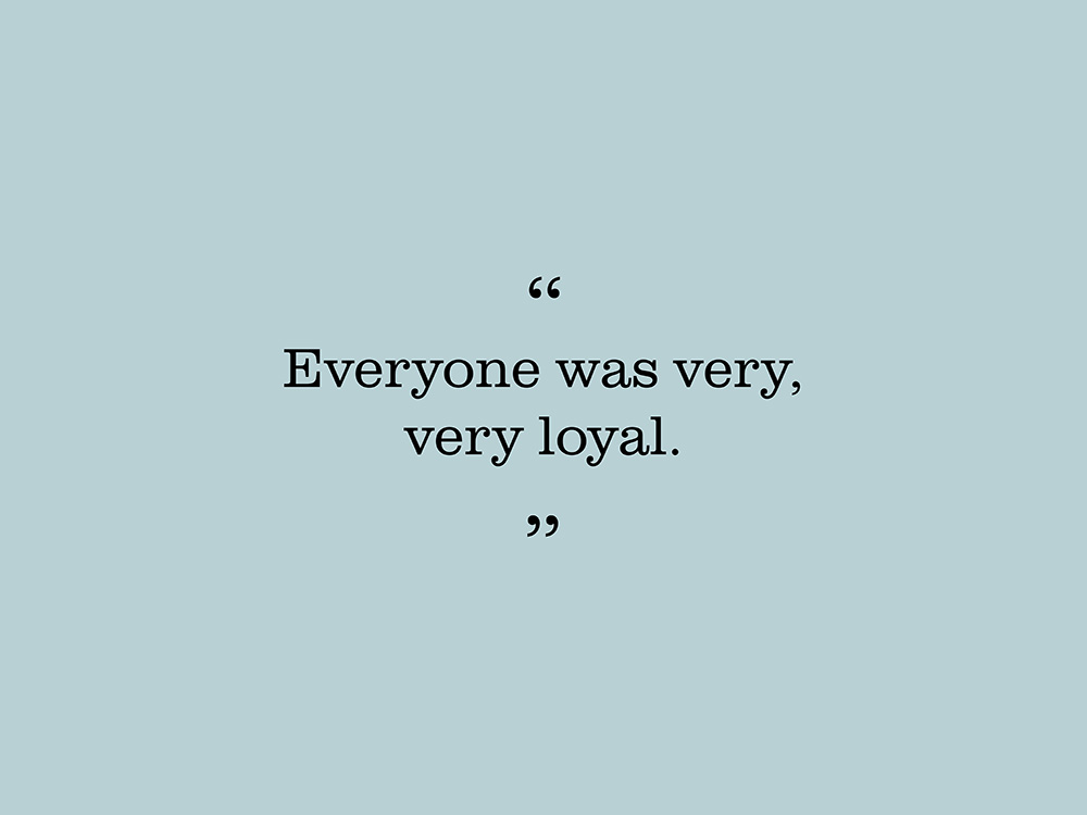 "Image showing quote by Joyce Barry. ""Everyone was very, very loyal."""