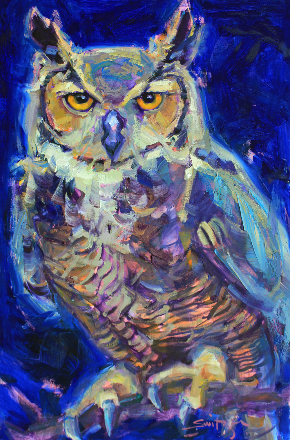 """Guardian"", 36x24 inches, oil on canvas  $3700"