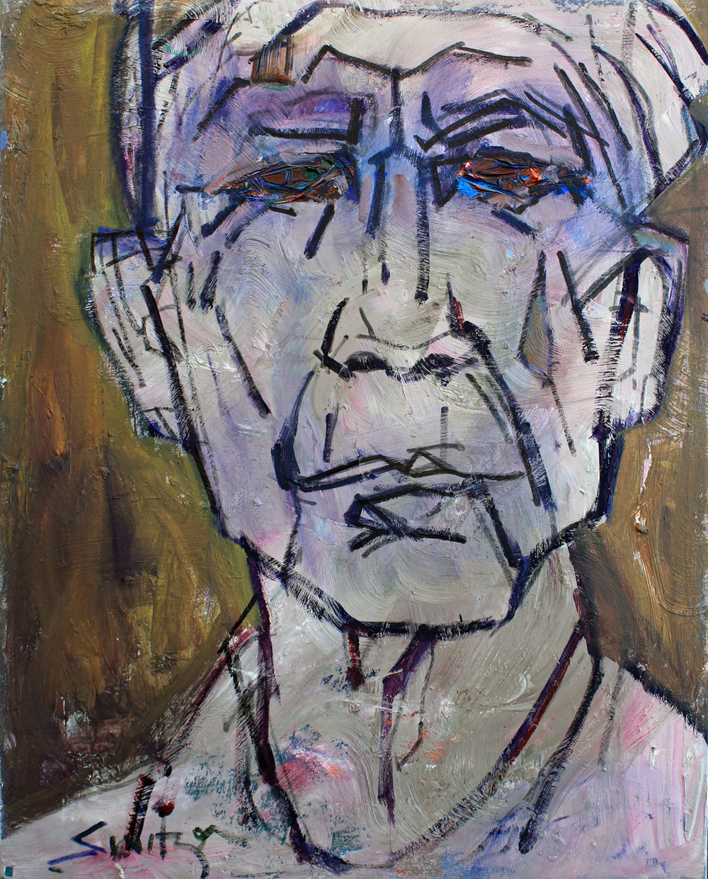 """Old Man"", 30x24 inches, oil on canvas"