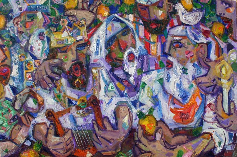 """""Ushpizin II"", 40x60 inches, oil on canvas  $8000"
