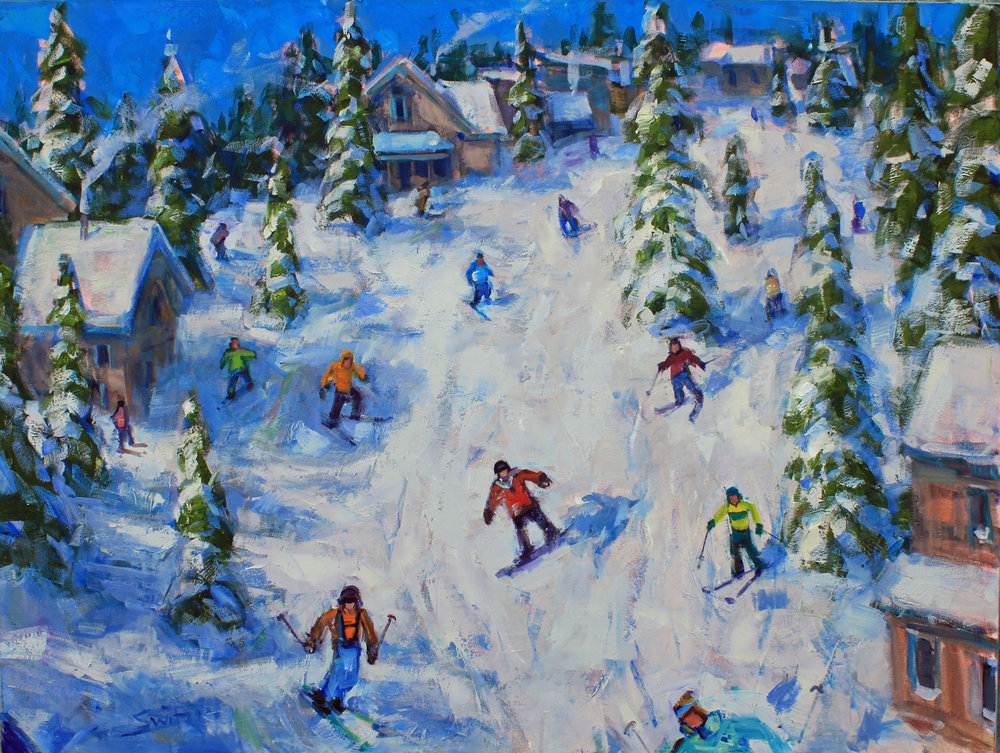 """""""Snow Alley"""", 36x48 inches, oil on canvas"""