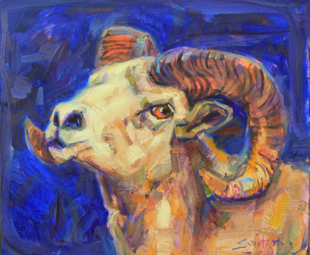 """I am a Ram"", 20x24 inches, oil on canvas"