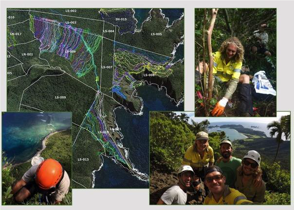 Weed teams apply search effort across near 80% of island terrain, their effort monitored through record of GPS track logs across designated weed management blocks.