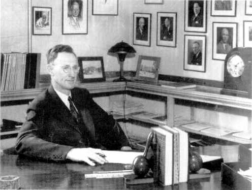 Mr. Joseph Brackin Kirkland In his office in Tallapoosa Hall