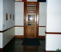 Old Library Door   This door had no window in 1959.