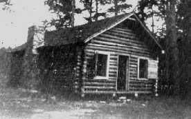 Cabin Erected by the Boys Overlooking Lake Mary (Original caption - From the LWMA History Room)