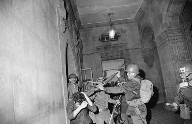 Soldados en San Ildefonso