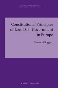 Giovanni Boggero - Constitutional Principles of Self-Government in Europe