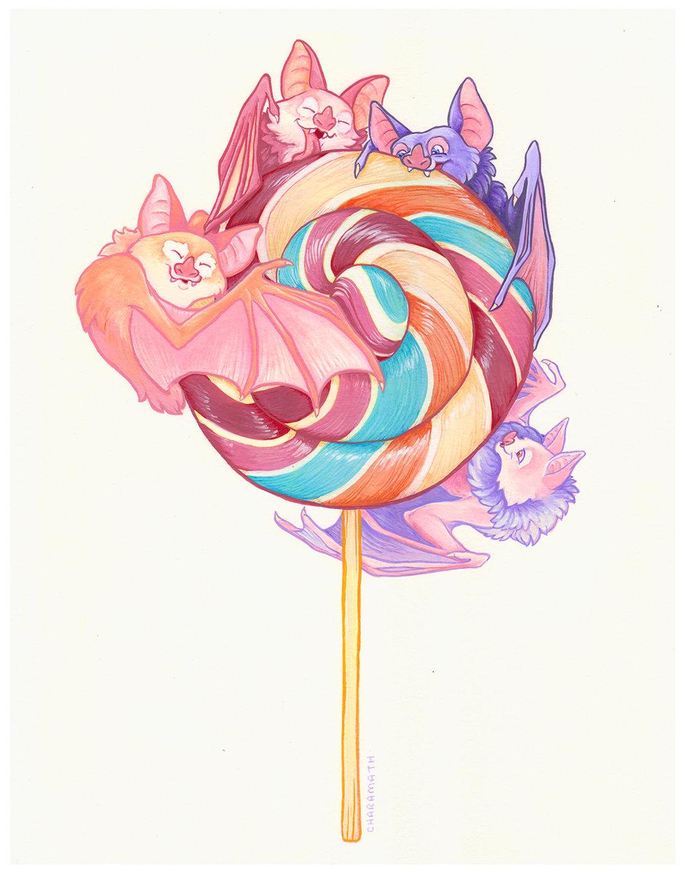 lollipop bats print the art of charamath
