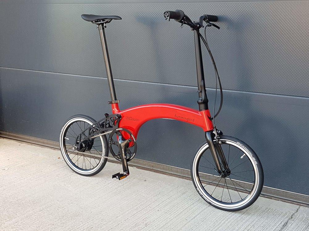 A custom Corsa Rosso Hummingbird
