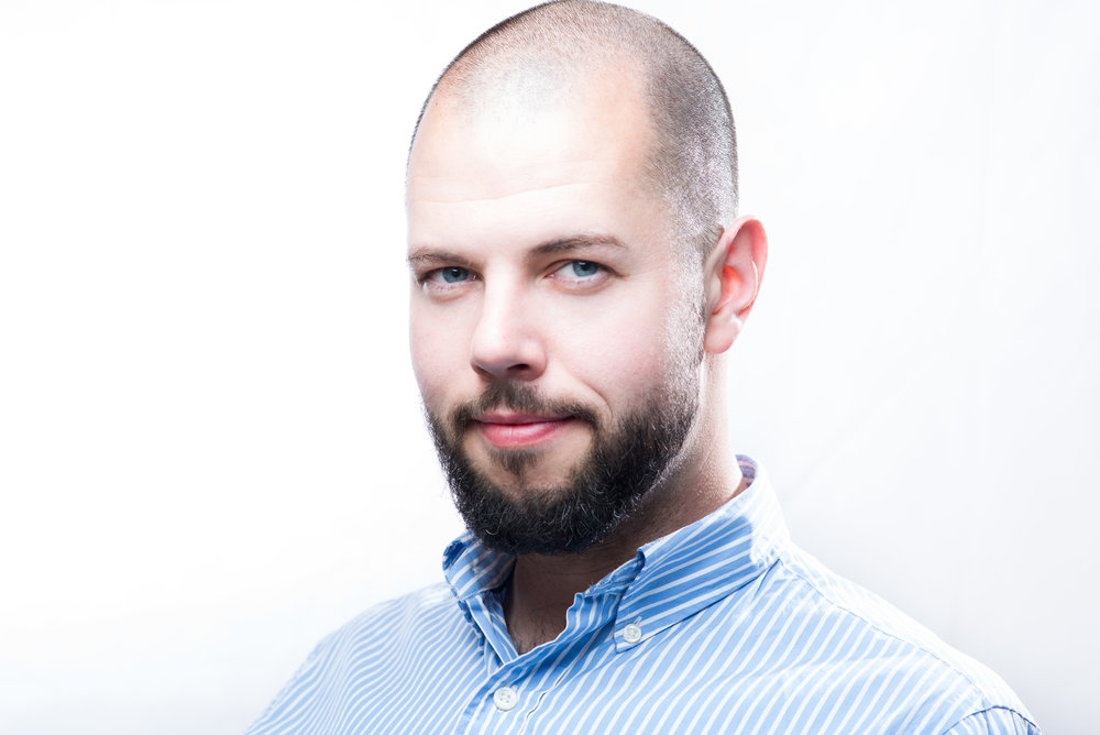 Professional business portrait of an entrepreneur expat in Prague