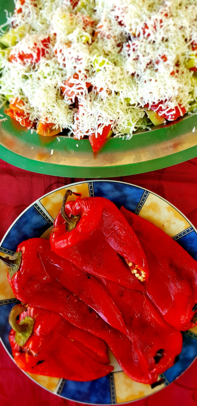 Ajva r is made from roasted red bell peppers (capsicum), garlic and sunflower oil and is delicious served on EVERYTHING.