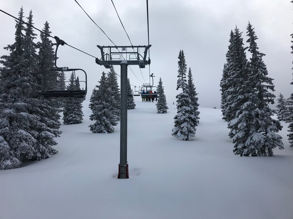 Chairlift leading into Blue Sky basin