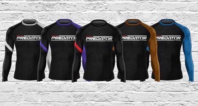 #BJJ Predator rank color rash guard available at londonfightstore.com