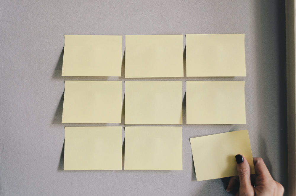 My client uses post-its for filling out her Eisenhower Matrix