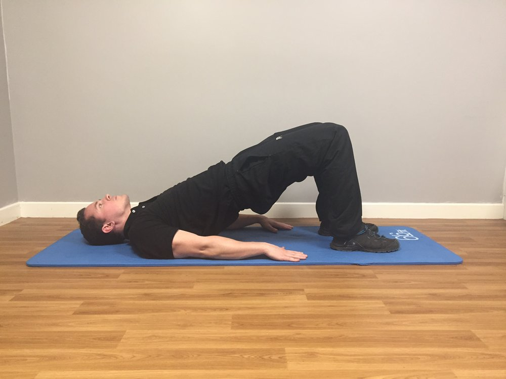Shoulder Bridge Finish Position