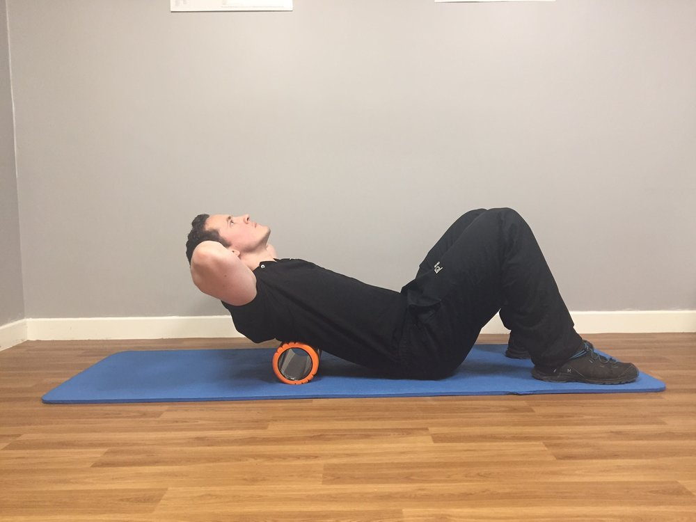 Thoracic Extension with Foam Roller Start Position
