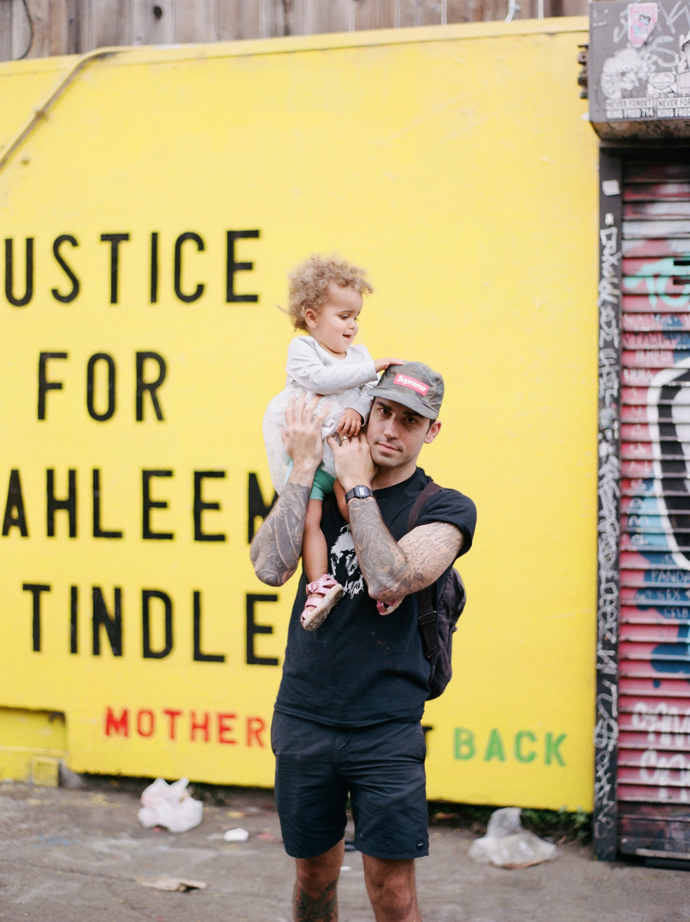 Film Family Photography in Mission Mural Walk by Rachel Sima Photography