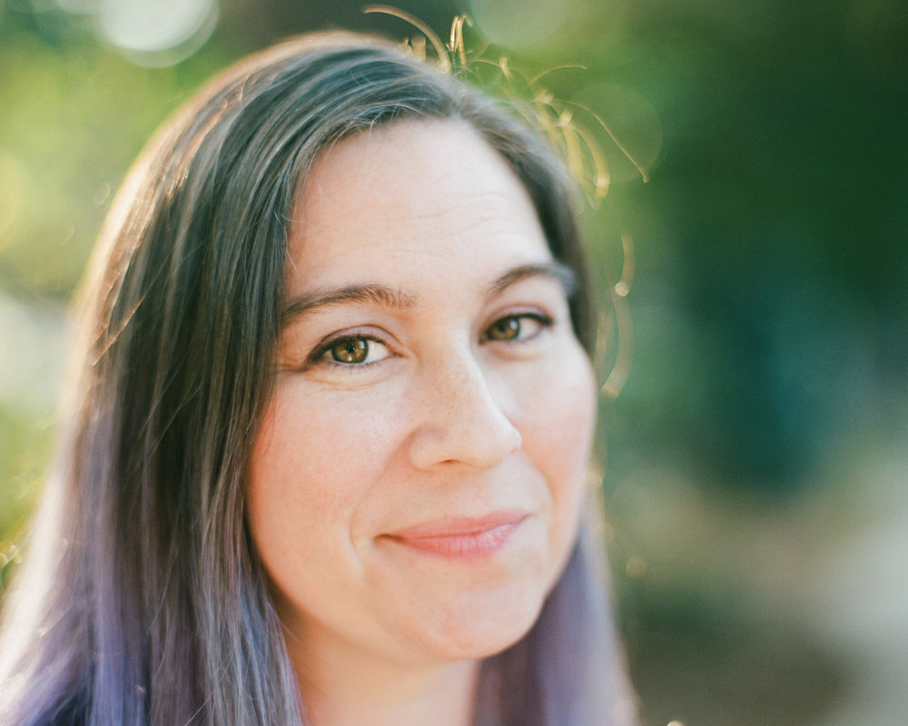 Portrait of Sarah on film in Sacramento by Rachel Sima Photography