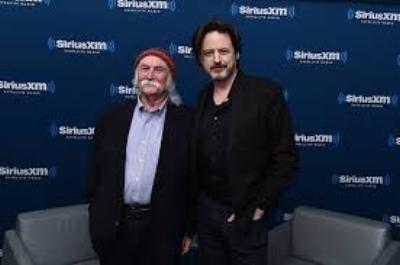John with David Crosby.