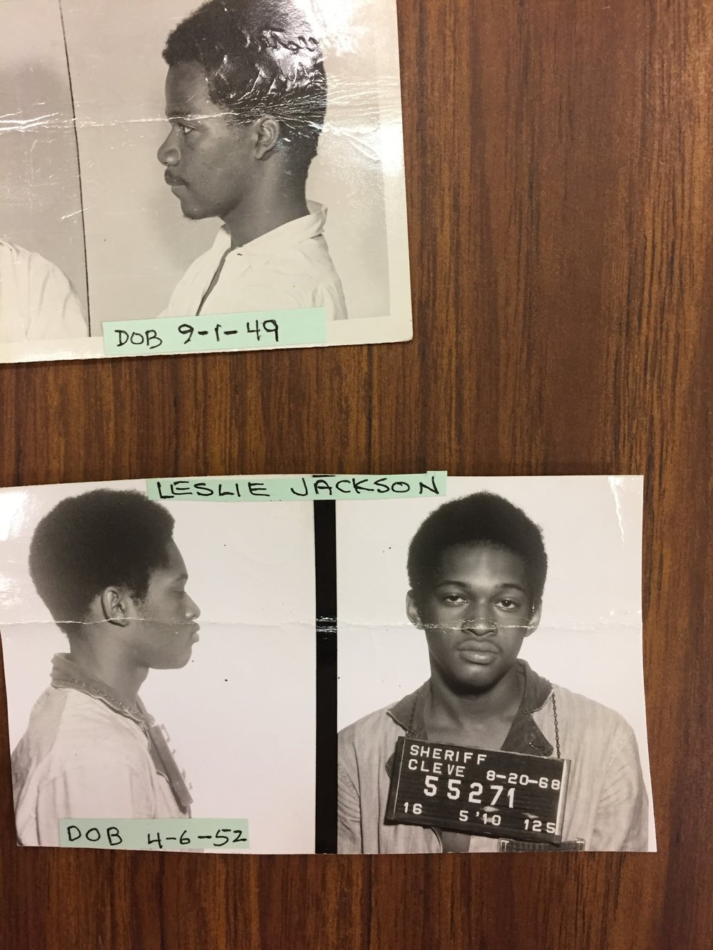 "Above Alfred Thomas (""Unknown""). Below, Leslie Jackson (""Osu Bey""), just 16 in 1968."