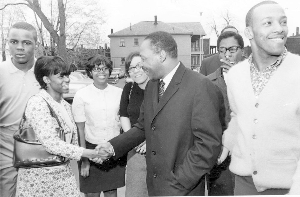 MLK, Glenville HS, April 1967.jpg