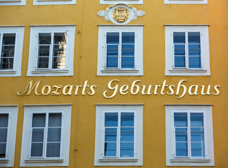 Mozarts Geburtahaus - Residential area of Mozart in Vienna. His authentic handwriting of pieces are available to be appreciated.