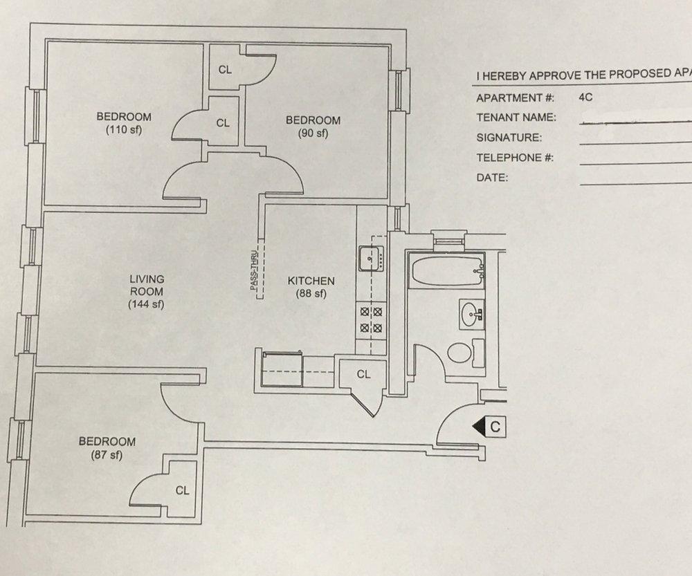 610 W 136 St Floorplan
