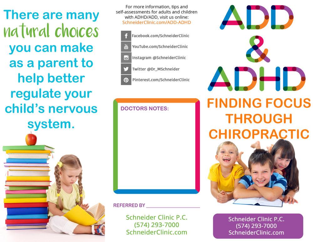 Schneider Clinic ADD/ADHD Brochure - Outside