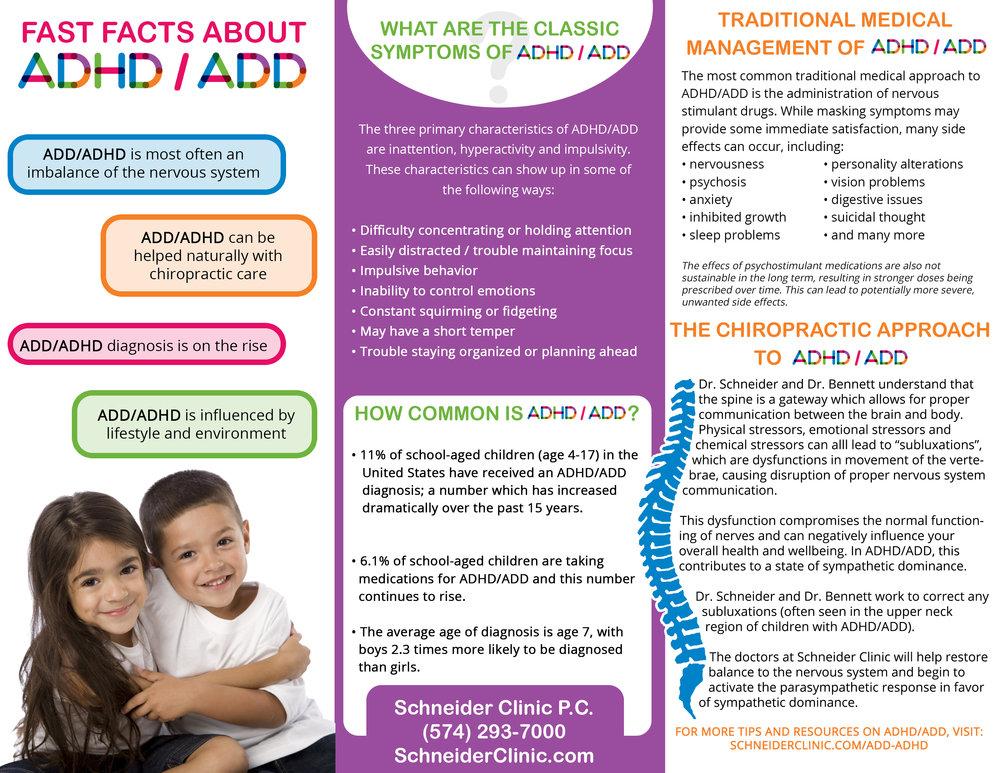 Schneider Clinic ADD/ADHD Brochure - Inside