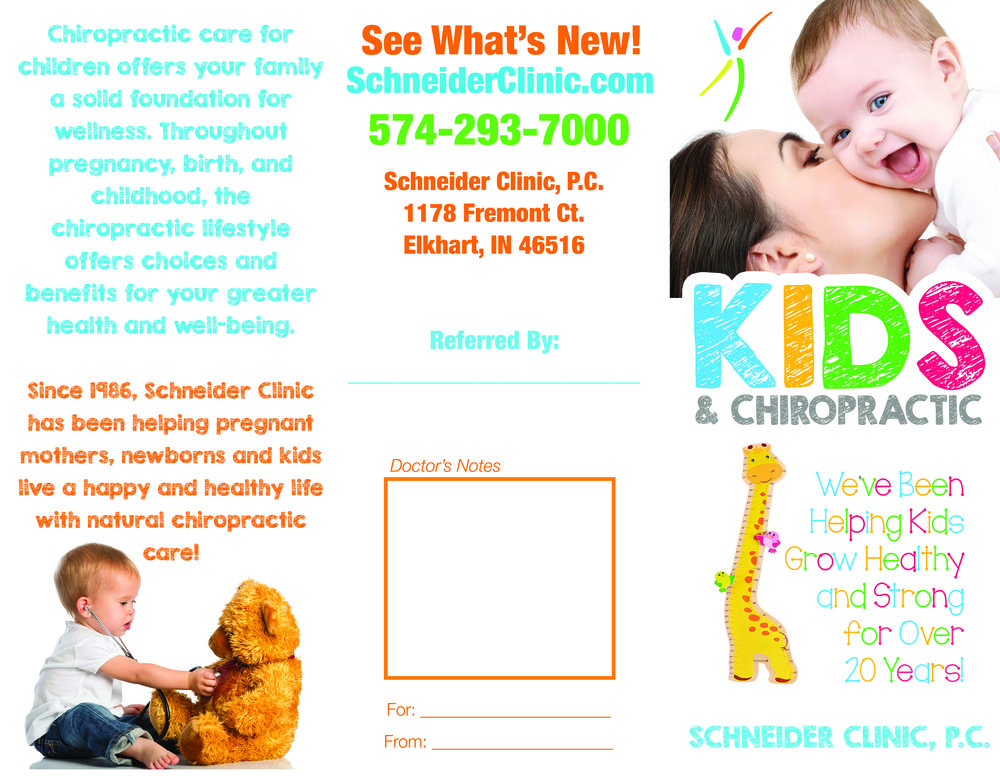 Schneider Clinic Kids & Chiropractic Brochure - Outside