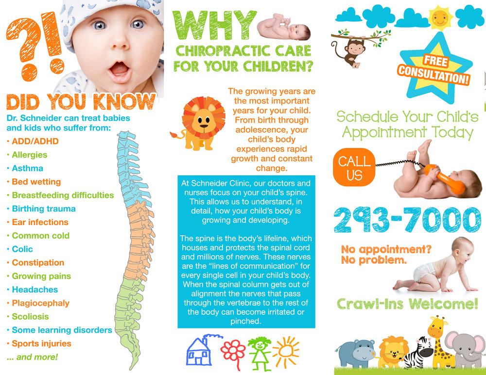 Schneider Clinic Kids & Chiropractic Brochure - Inside
