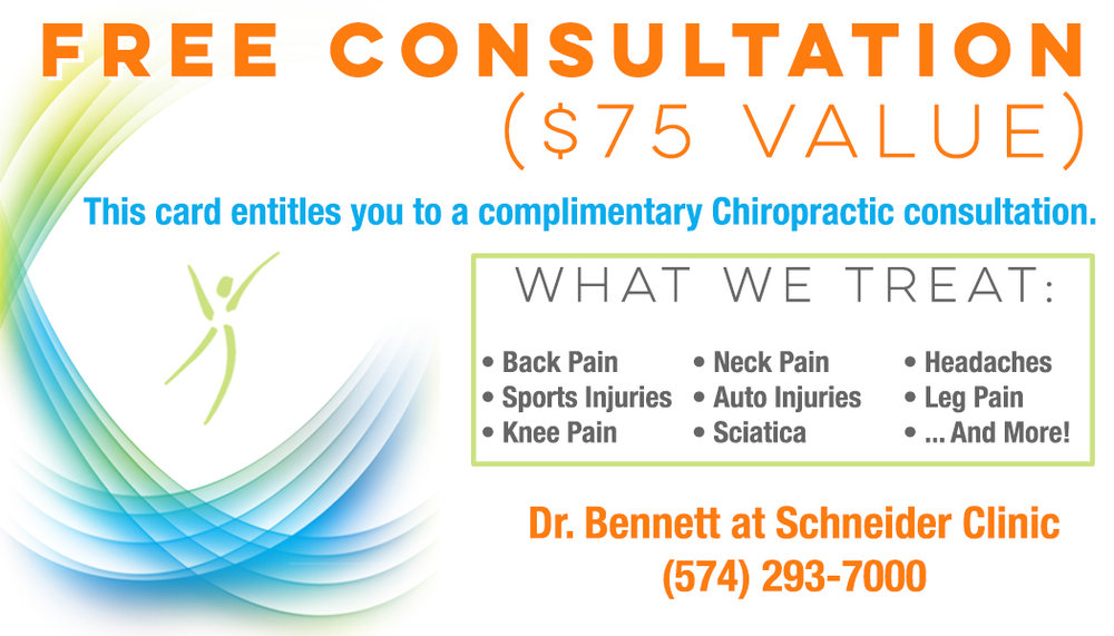 Chiropractic Consultation Card - Front