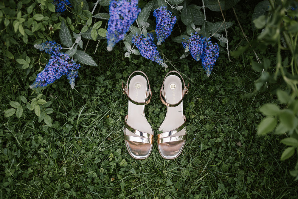 River Island rose gold shoes as low budget wedding shoes