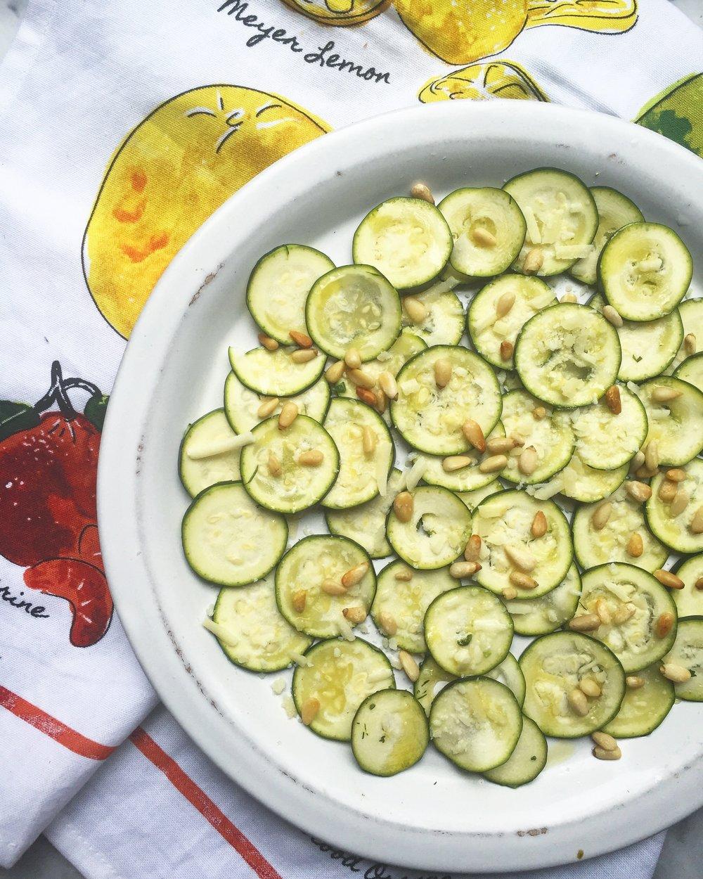 Zucchini Carpaccio -
