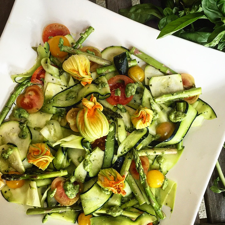 Garden Salad with Pesto -