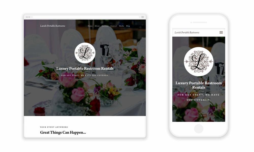 Website Design for Lavish Portable Restrooms