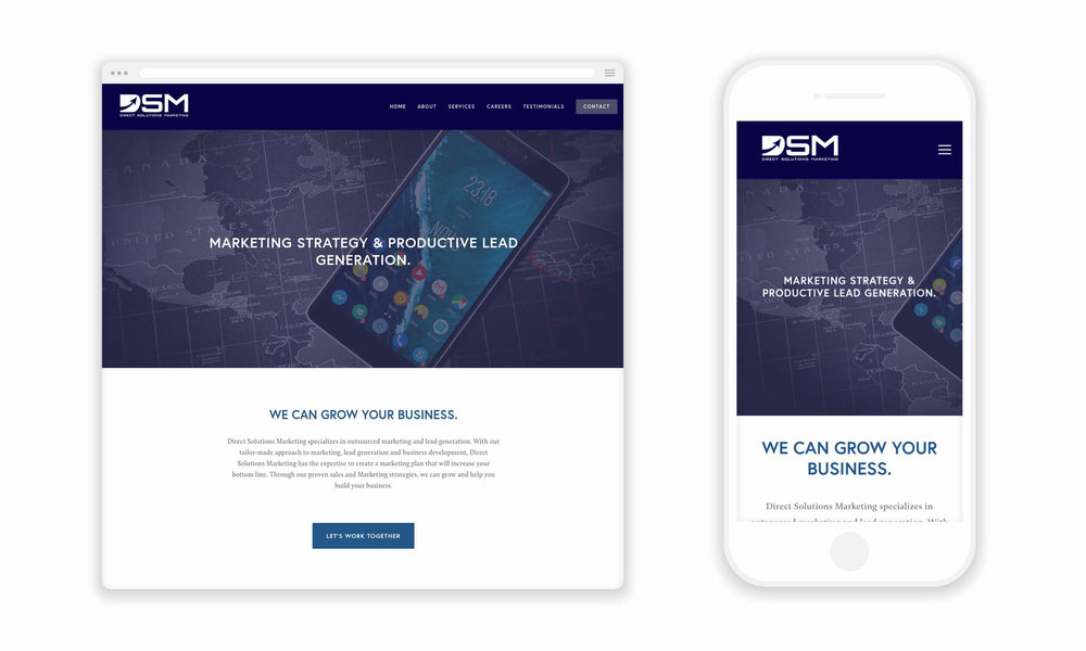 Website Design for Direct Solutions Marketing