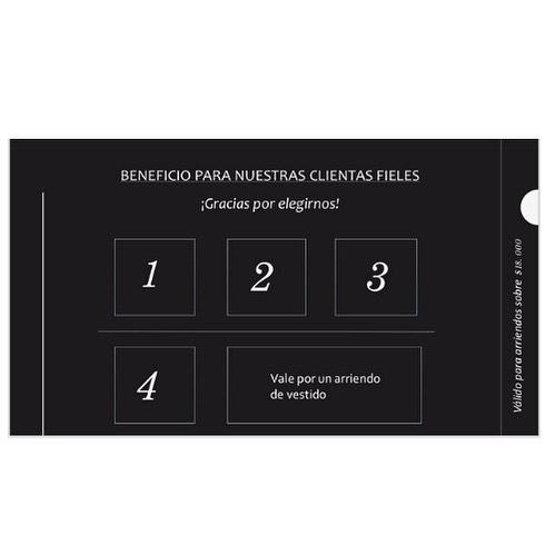 Beneficio para nuestras fieles clientas! Desde el 18 de marzo las primeras 200 clientas recibirán una tarjeta que les permitirá luego de 4 arriendos uno gratis🙀🙀🙀🙀